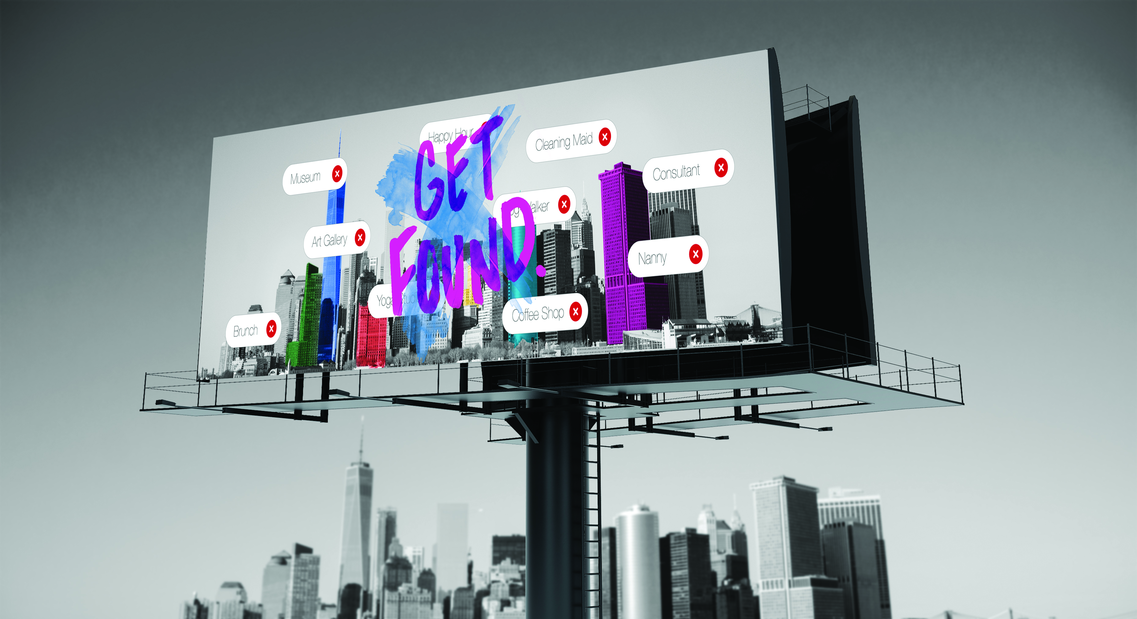 Get Found Billboard Mockup