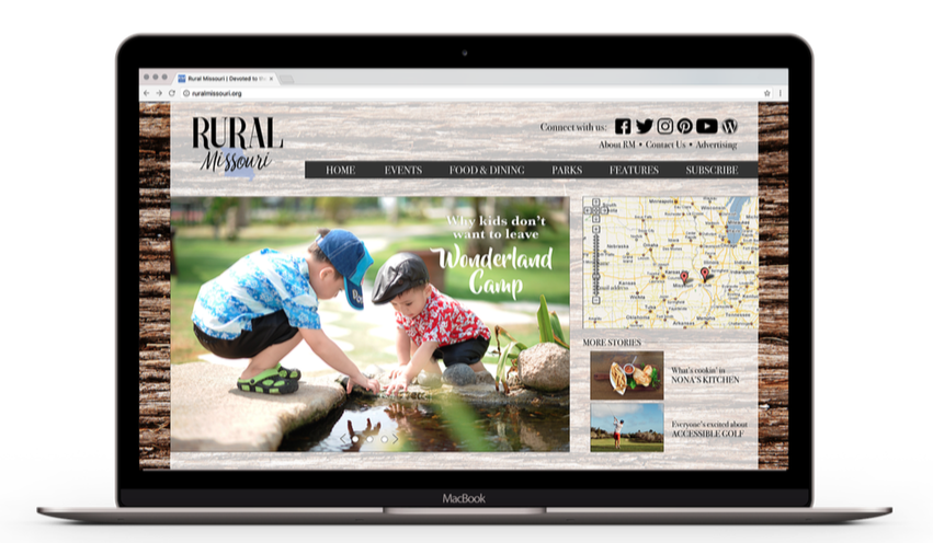 Rural Missouri Website Mockup