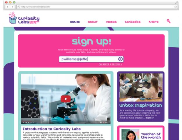MilliporeSIgma Website Mockup