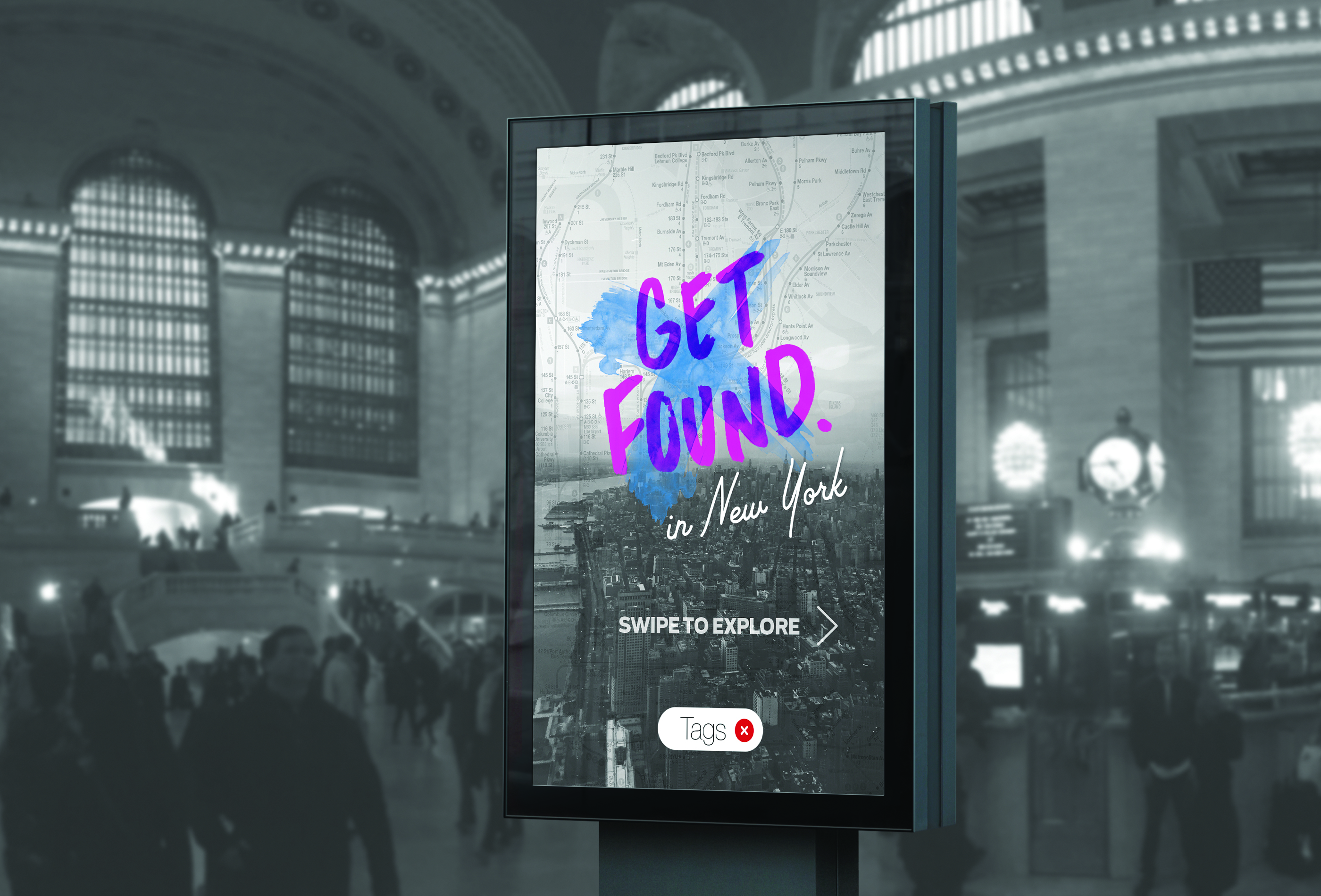 Get Found Travel Board Mockup