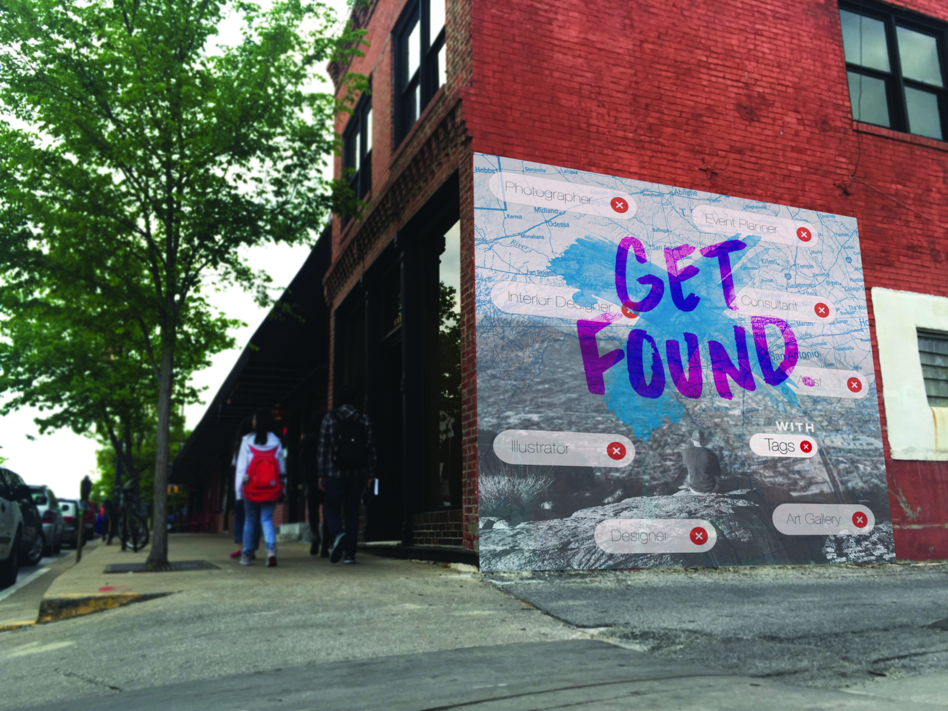 Get Found Mural Mockup